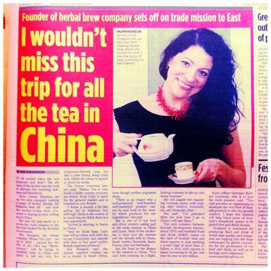 Mama Tea goes East