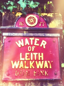 Water of Leith sign