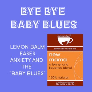 breastfeeding tea - lemon balm - mama tea